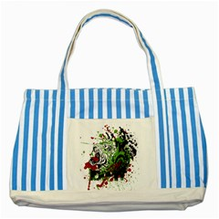 Do It Sport Crossfit Fitness Striped Blue Tote Bag