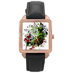 Do It Sport Crossfit Fitness Rose Gold Leather Watch