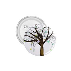 Tree Fantasy Magic Hearts Flowers 1 75  Buttons
