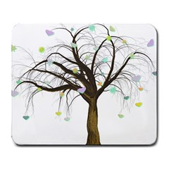 Tree Fantasy Magic Hearts Flowers Large Mousepads