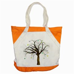 Tree Fantasy Magic Hearts Flowers Accent Tote Bag