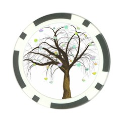 Tree Fantasy Magic Hearts Flowers Poker Chip Card Guard