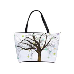 Tree Fantasy Magic Hearts Flowers Shoulder Handbags