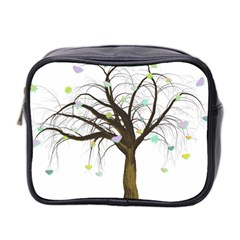Tree Fantasy Magic Hearts Flowers Mini Toiletries Bag 2-Side