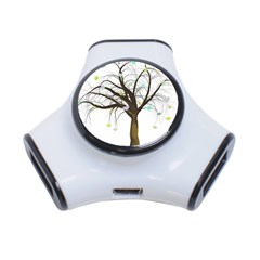 Tree Fantasy Magic Hearts Flowers 3-Port USB Hub
