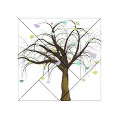Tree Fantasy Magic Hearts Flowers Acrylic Tangram Puzzle (4  X 4 )
