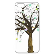 Tree Fantasy Magic Hearts Flowers Apple Seamless iPhone 5 Case (Clear)