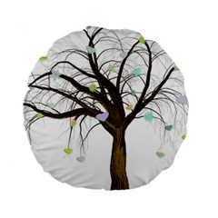 Tree Fantasy Magic Hearts Flowers Standard 15  Premium Round Cushions