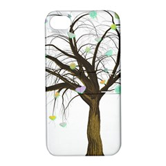 Tree Fantasy Magic Hearts Flowers Apple Iphone 4/4s Hardshell Case With Stand