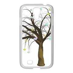 Tree Fantasy Magic Hearts Flowers Samsung Galaxy S4 I9500/ I9505 Case (white)