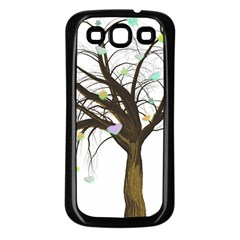 Tree Fantasy Magic Hearts Flowers Samsung Galaxy S3 Back Case (black)