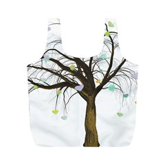 Tree Fantasy Magic Hearts Flowers Full Print Recycle Bags (m)