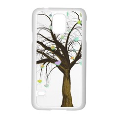 Tree Fantasy Magic Hearts Flowers Samsung Galaxy S5 Case (white)