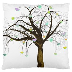 Tree Fantasy Magic Hearts Flowers Standard Flano Cushion Case (one Side)