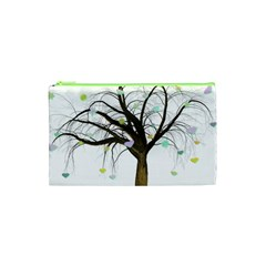 Tree Fantasy Magic Hearts Flowers Cosmetic Bag (xs)