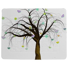 Tree Fantasy Magic Hearts Flowers Jigsaw Puzzle Photo Stand (Rectangular)