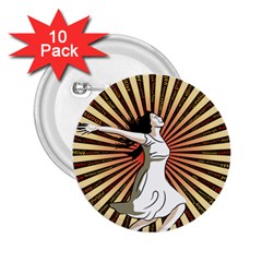Woman Power Glory Affirmation 2.25  Buttons (10 pack)