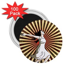 Woman Power Glory Affirmation 2.25  Magnets (100 pack)