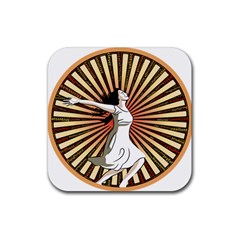 Woman Power Glory Affirmation Rubber Coaster (square)