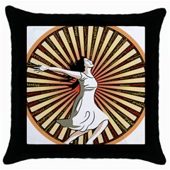 Woman Power Glory Affirmation Throw Pillow Case (black)