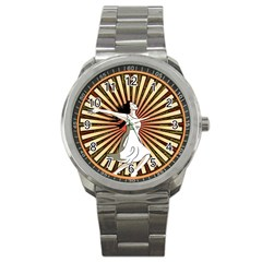 Woman Power Glory Affirmation Sport Metal Watch