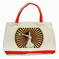Woman Power Glory Affirmation Classic Tote Bag (Red)