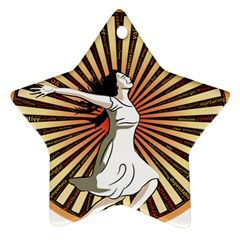 Woman Power Glory Affirmation Star Ornament (Two Sides)