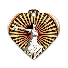 Woman Power Glory Affirmation Dog Tag Heart (one Side)