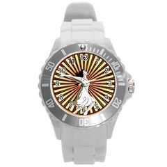 Woman Power Glory Affirmation Round Plastic Sport Watch (L)