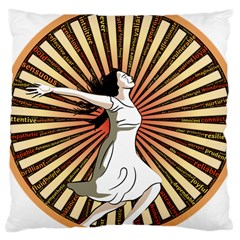 Woman Power Glory Affirmation Large Cushion Case (Two Sides)