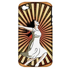 Woman Power Glory Affirmation Apple iPhone 4/4S Hardshell Case (PC+Silicone)
