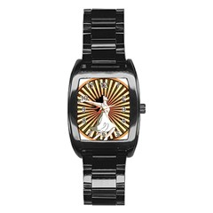 Woman Power Glory Affirmation Stainless Steel Barrel Watch