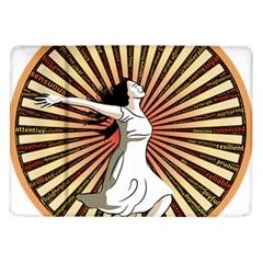 Woman Power Glory Affirmation Samsung Galaxy Tab 10 1  P7500 Flip Case