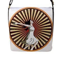 Woman Power Glory Affirmation Flap Messenger Bag (L)