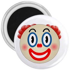 Clown Funny Make Up Whatsapp 3  Magnets