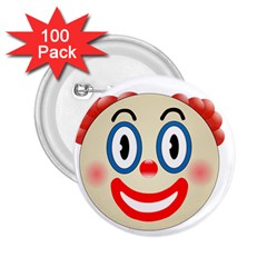 Clown Funny Make Up Whatsapp 2 25  Buttons (100 Pack)