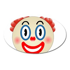 Clown Funny Make Up Whatsapp Oval Magnet