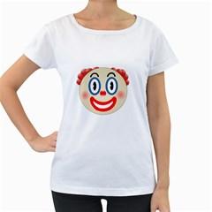 Clown Funny Make Up Whatsapp Women s Loose-Fit T-Shirt (White)