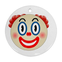 Clown Funny Make Up Whatsapp Round Ornament (Two Sides)