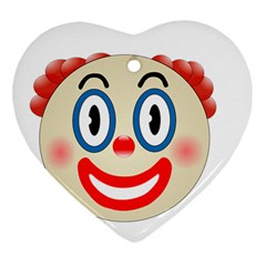 Clown Funny Make Up Whatsapp Heart Ornament (Two Sides)