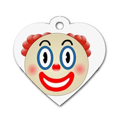 Clown Funny Make Up Whatsapp Dog Tag Heart (one Side)