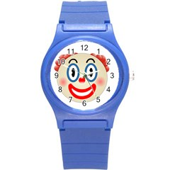 Clown Funny Make Up Whatsapp Round Plastic Sport Watch (S)