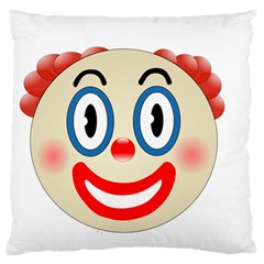 Clown Funny Make Up Whatsapp Large Cushion Case (two Sides)