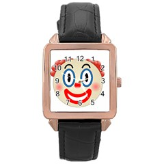 Clown Funny Make Up Whatsapp Rose Gold Leather Watch