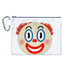 Clown Funny Make Up Whatsapp Canvas Cosmetic Bag (L)