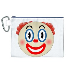 Clown Funny Make Up Whatsapp Canvas Cosmetic Bag (XL)