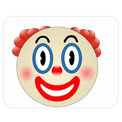 Clown Funny Make Up Whatsapp Double Sided Flano Blanket (medium)