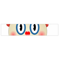 Clown Funny Make Up Whatsapp Flano Scarf (small)