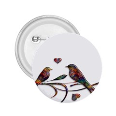 Birds Abstract Exotic Colorful 2 25  Buttons