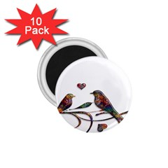 Birds Abstract Exotic Colorful 1 75  Magnets (10 Pack)